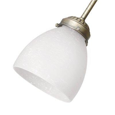 Classics Brass Glass Bowl Ceiling Fan Fitter Shade Finish: White Linen