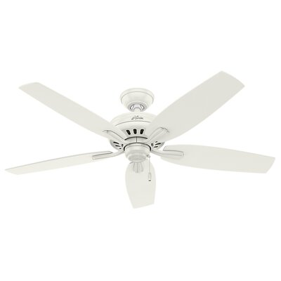 52 Newsome 5-Blade Ceiling Fan Finish: Fresh White with Snow White/Oak Blades