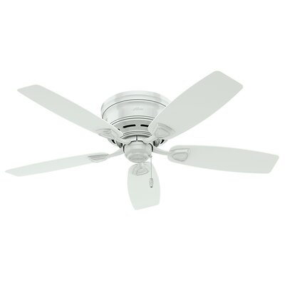 48 Sea Wind 5-Blade Outdoor Ceiling Fan Finish: White