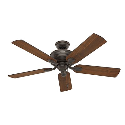 54 Matheston 5-Blade Ceiling Fan Finish: Onyx Bengal with Burnished Alder/Alder Blades