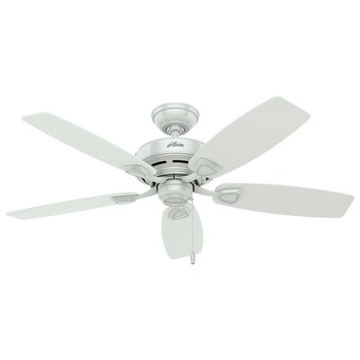48 Sea Wind 5 Blade Outdoor Ceiling Fan Finish: White