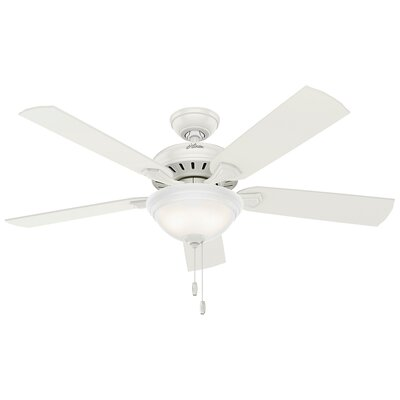 52 Fletcher Five Minute 5-Blade Ceiling Fan Finish: Fresh White