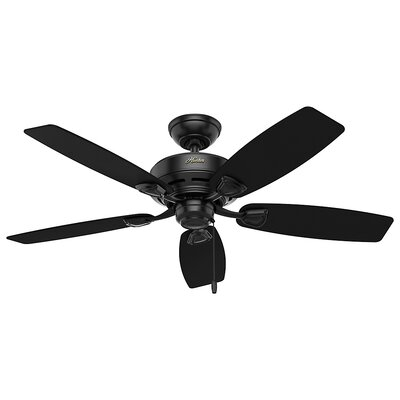 48 Sea Wind 5 Blade Outdoor Ceiling Fan Finish: Matte Black