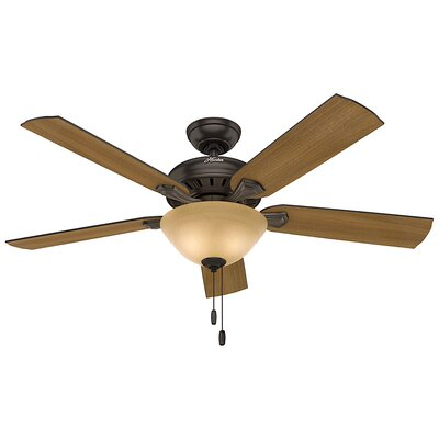 52 Fletcher Five Minute 5-Blade Ceiling Fan Finish: Premier Bronze