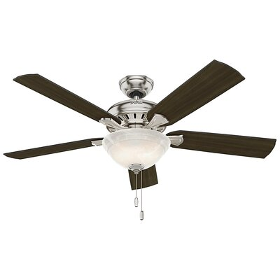 52 Fletcher Five Minute 5-Blade Ceiling Fan Finish: Brushed Nickel
