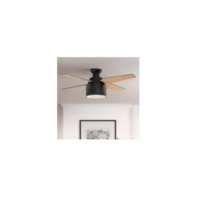 52 Cranbrook 4 Blade Ceiling Fan with Remote Motor Finish: Gloss Black