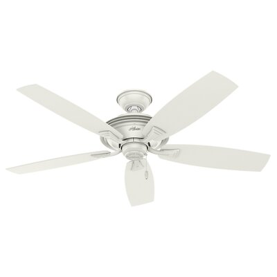 52 Rainsford 5 Blade Ceiling Fan Finish: Fresh White