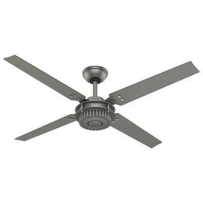54 Chronicle 4 Blade Ceiling Fan Finish: Matte Silver