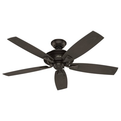52 Rainsford 5 Blade Ceiling Fan Finish: Premier Bronze