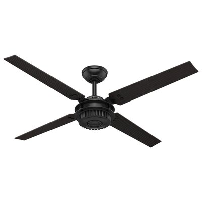 54 Chronicle 4 Blade Ceiling Fan Finish: Matte Black