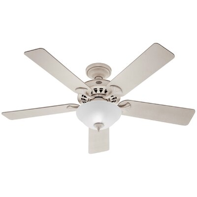 52 Sonora 5 Reversible Blade Ceiling Fan Finish: White