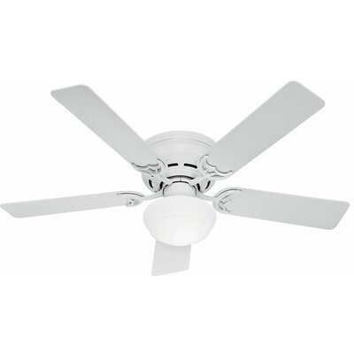 52 Low Profile� III Plus 5-Blade Ceiling Fan Finish: White
