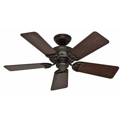 42 Hudson? 5-Blade Ceiling Fan Finish: Bronze with Dark Walnut/Medium Oak Blades
