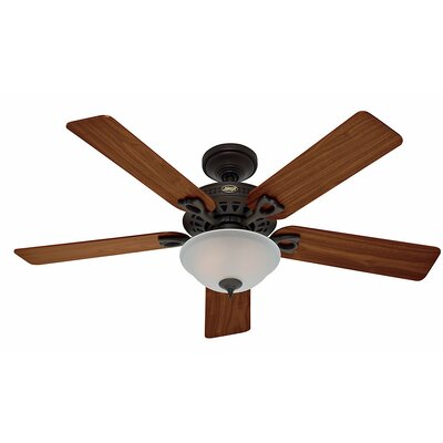 52 The Astoria? 5-Blade Ceiling Fan Finish: Bronze with Walnut/Medium Oak Blades