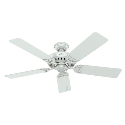 52 Studio Series 5-Blade Ceiling Fan Finish: White with White Blades