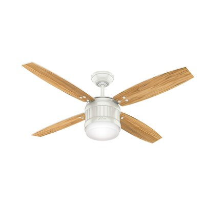 52 Seahaven 4 Blade Ceiling Fan with Remote Finish: Fresh White/Natural