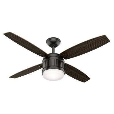 Glinda 52 4 Blade Ceiling Fan with Remote Finish: Noble Bronze
