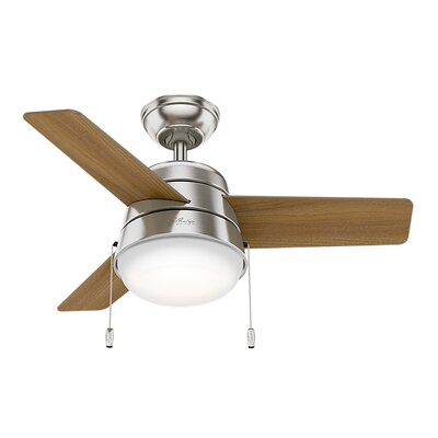 36 Carita 3 Blade Ceiling Fan Finish: Brushed Nickel