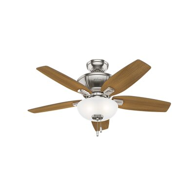 42 Kenbridge 5 Blade Ceiling Fan Finish: Brushed Nickel