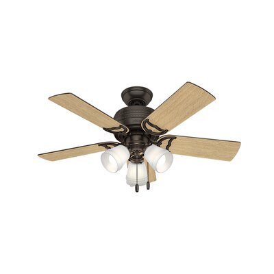 42 Prim 5 Blade Ceiling Fan Finish: Premier Bronze