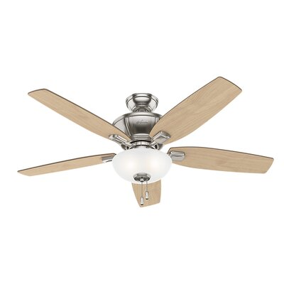 52 Kenbridge 5 Blade Ceiling Fan Finish: Brushed Nickel