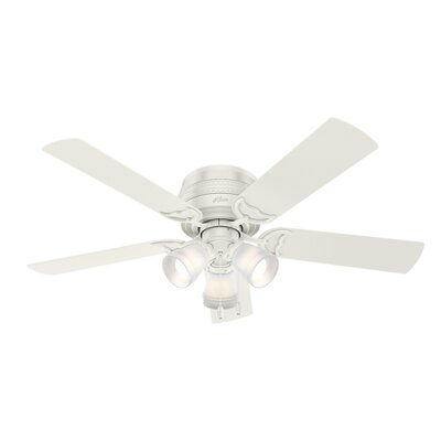 52 Prim 5 Blade Ceiling Fan Finish: Fresh White