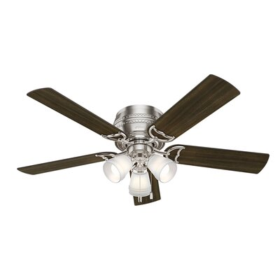 52 Prim 5 Blade Ceiling Fan Finish: Brushed Nickel