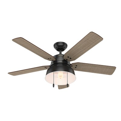 52 Mill Valley 5 Blade Ceiling Fan Finish: Matte Black