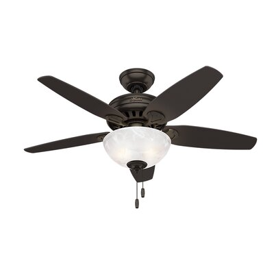 44 Cedar Park 5 Blade Ceiling Fan Finish: Premier Bronze with Dark Mocha/Rustic Lodge Blades