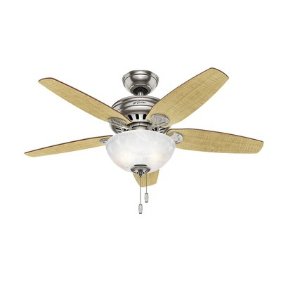44 Cedar Park 5 Blade Ceiling Fan Finish: Brushed Nickel with Cherry/Maple Blades