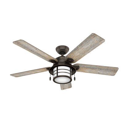 54 Key Biscayne Prestige 5 Blade Outdoor Ceiling Fan with Light