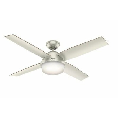 52 Dempsey 4 Blade Outdoor LED Ceiling Fan with Remote
