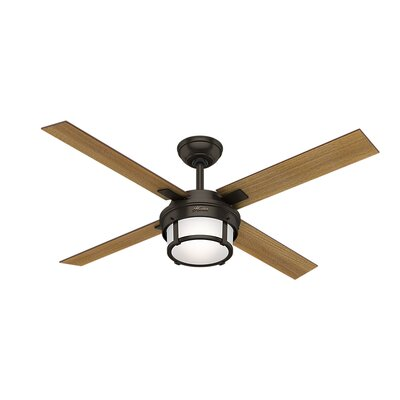 52 Maybeck 4 Blade Ceiling Fan with Remote Finish: Premier Bronze