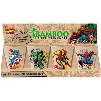 Marvel 4 Piece 10 oz. Bamboo Cup Set 26003