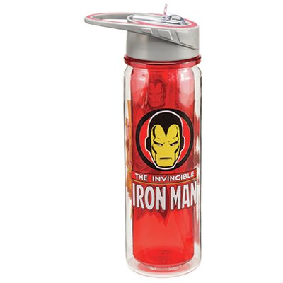 Marvel Invincible Iron Man 18 oz. Tritan Water Bottle 26610