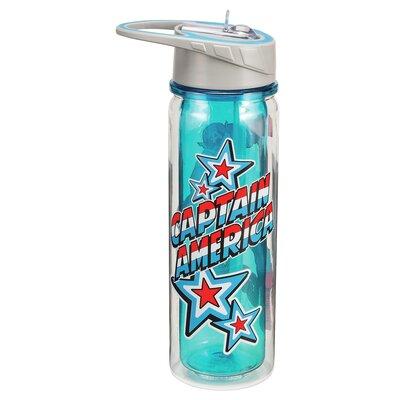Marvel Captain America 18 oz. Tritan Water Bottle 26810