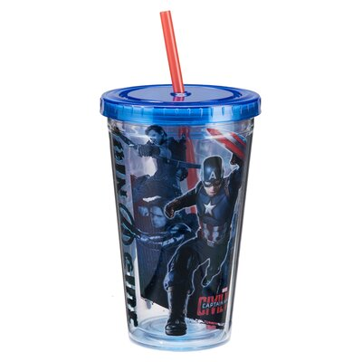 Marvel Captain America Civil War 18 Oz. Acrylic Travel Cup 26015