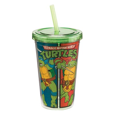 Teenage Mutant Ninja Turtles Acrylic 12 Oz. Travel Cup 38014