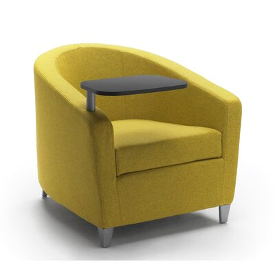 Playful Lounge Chair with Tablet Upholstery: Powder Coat Aluminum, Upholstery: Momentum Beeline Vinyl Eucalyptus