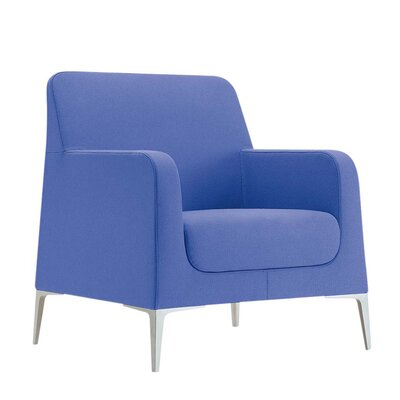Gamma Lounge Chair Fabric: Momentum Beeline Vinyl Walnut, Fabric: Powder Coat Aluminum