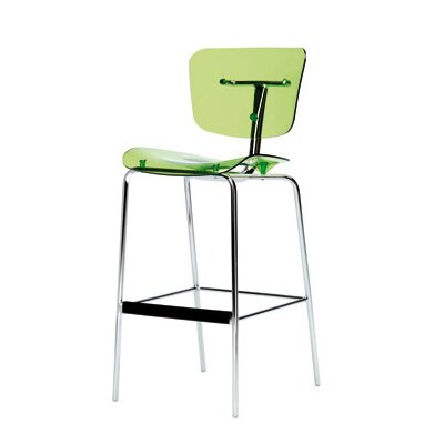 Slide Bar Stool Upholstery: Glossy White