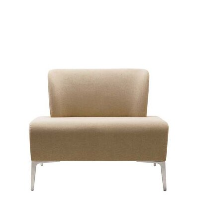 Fi Large Lounge Chair Finish: Chrome, Finish: Momentum Beeline Vinyl Walnut
