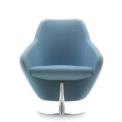 Taxido Swivel Lounge Chair Upholstery: Powder Coat Black, Finish: Momentum Fuse Fabric Saffron