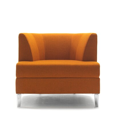 Cosy Lounge Chair with Casters Upholstery: Powder Coat Aluminum, Upholstery: Momentum Fuse Fabric Saffron