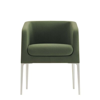 Alphabet Beta Lounge Chair Finish: Aluminum, Upholstery: Momentum Fuse Fabric Saffron