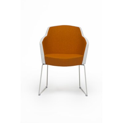 Grip Arm Chair Upholstery: Powder Coat, Upholstery: Momentum Beeline Vinyl Walnut