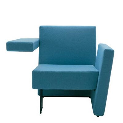 Meet Me Vertical Arm Left and Horizontal Arm Right Arm Chair Finish: Momentum Beeline Vinyl Eucalyptus