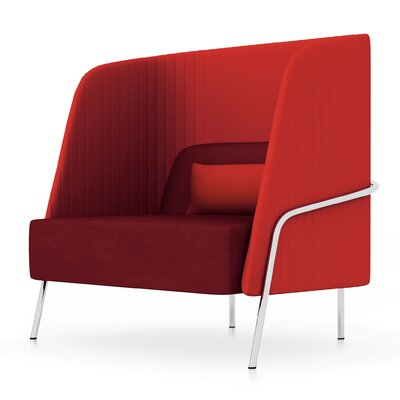 Noldor High-Back Arm Chair Upholstery: Momentum Fuse Fabric Azurean, Upholstery: Chrome