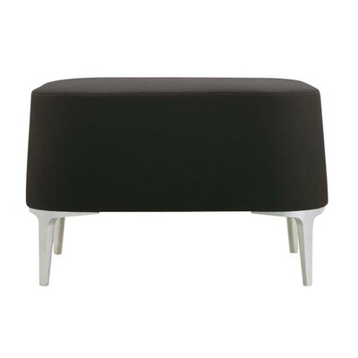 Alphabet Delta Ottoman Upholstery: Momentum Fuse Fabric Walnut, Finish: Powder Coat Aluminum