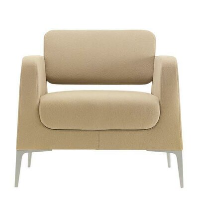 Omega Lounge Chair Finish: Chrome, Seat Color: Momentum Fuse Fabric Saffron